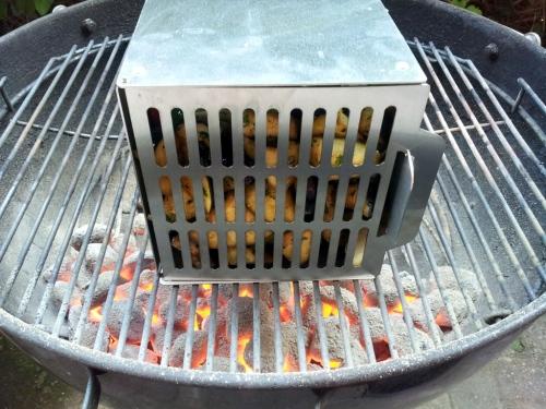 Der Barbecube im Einsatz.