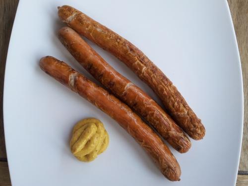 Fränkische Bratwurst - schlecht gegrillt.