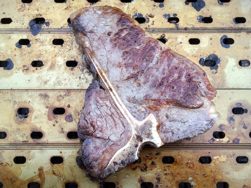 Dry Aged T-Bone Steak.