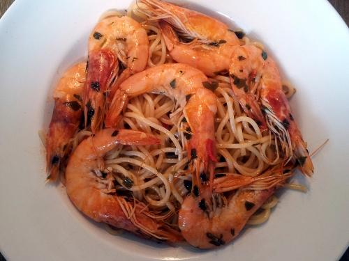 Spaghetti ai Scampi.