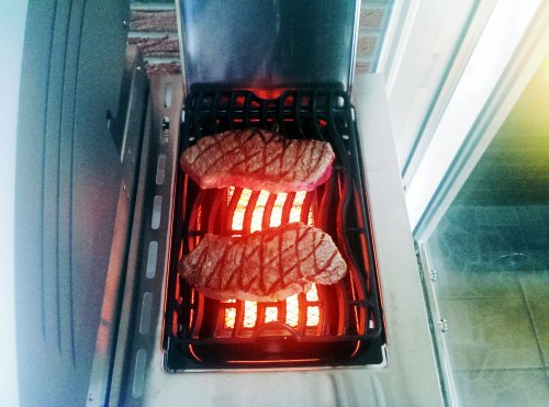 Steaks auf der Sizzle Zone des LE3.