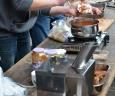 Currywurst zur Begrüßung