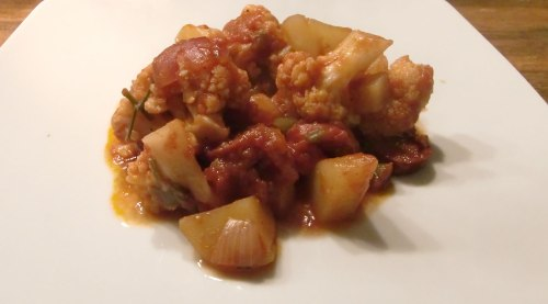 Blumenkohl-Chorizo-Pfanne