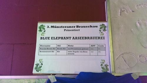 Brauschau Münster 2015 - Blue Elephant Aaseebrauerei