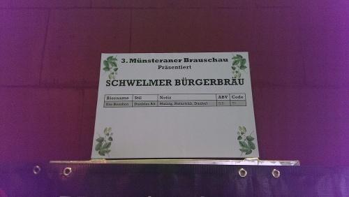 Brauschau Münster 2015 - Schmelmer Bürgerbräu