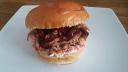 Pulled Pork Burger: Slaw, Meat, Sauce